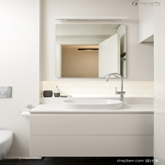 Original White Single Apartment Bathroom Design Coosyd Interior - Karbonix