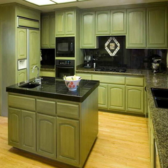 Paint For Kitchen With Green Combination Best Cabinet - Karbonix