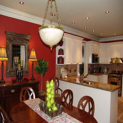 Paint For Kitchen With Red Wall Best Cabinet - Karbonix