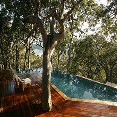Parquet Floor Deck Blue Swimming Pool With Beach Scenery Fascinating Design - Karbonix