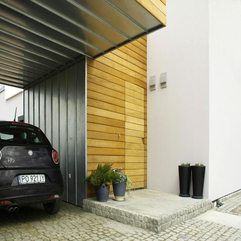 Pot With Plants Placed Front Of Wooden Wall For Garage Small Black - Karbonix