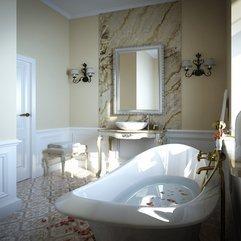 Pretty Antique Bathroom Marble Backsplash Daily Interior Design - Karbonix