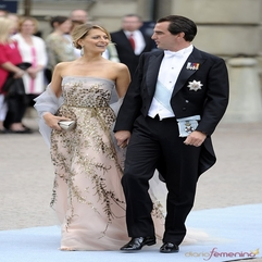Prince Nicholas Of Greece And His Wife Tatiana Red Carpet Charm - Karbonix
