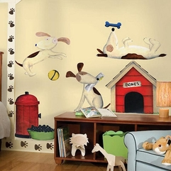 Print Wallpaper On Kid Room Dog Paws - Karbonix