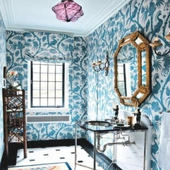 Prints Bathroom Bold Wallpaper - Karbonix