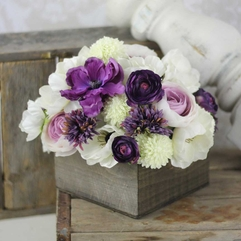 Purple Flower Arrangement White - Karbonix