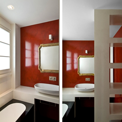 Red And White Colors In Luxury Bathroom Design For The Use Of - Karbonix