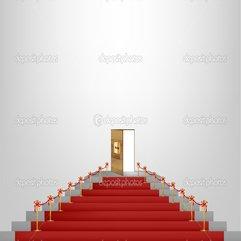 Red Carpet Leading Up To A Lavish Door Stock Vector Emaria - Karbonix