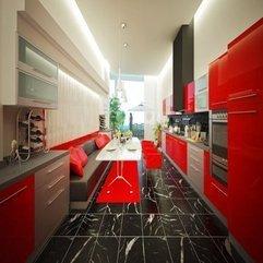 Red Kitchen Design White And - Karbonix