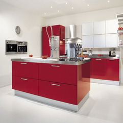 Red Kitchen Ideas Artistic Concept - Karbonix