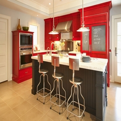 Red Kitchen Ideas Artistic Contemporary - Karbonix
