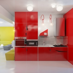 Red Kitchen Red Cabinets - Karbonix