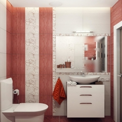 Red White Bathroom Decor - Karbonix