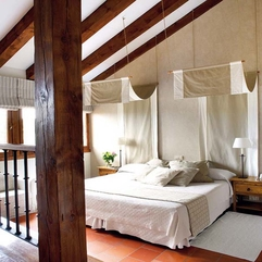 Relaxed Tasty Fashionable Loft Bedroom Decor White Beige - Karbonix