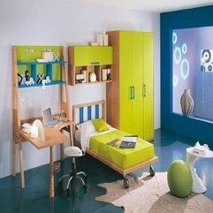 Retro Good Design Colorful Bedroom For Children By Pentamobili - Karbonix
