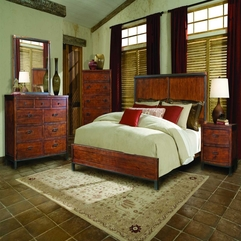 Retro Lodge Panel Bedroom Design Set - Karbonix