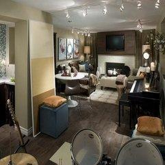 Room Decorating Ideas Contemporary Basement - Karbonix