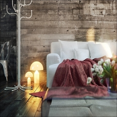 Room Design With Wood Wall Feature Warm Living - Karbonix