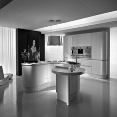 Rounded Kitchen Style With Serene Lighting Tricks Remarkable Modern - Karbonix