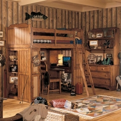 Rustic Furniture Kids Bedroom - Karbonix