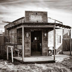Saloon Bar Wild West Sepia American Retro World History Drinks - Karbonix