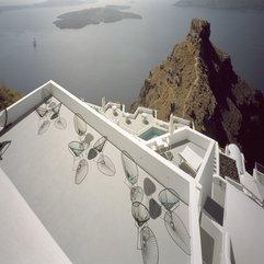 Santorini Hotel Exterior Terrace Design Grace - Karbonix