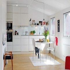 Scandinavian Kitchen Design White Color - Karbonix