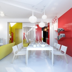 Set Between Red Yellow White Dining - Karbonix