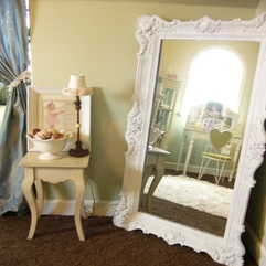 Shabby Chic Oversize Mirror Shabby Chic Is A Home Interior Style - Karbonix
