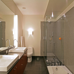 Shower Area Near White Bathtub Transparent Glazed - Karbonix