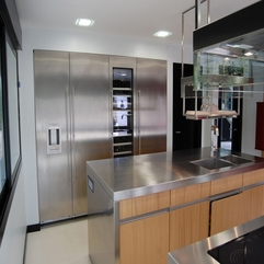 Silver Kitchen Cabinets In White Painted Kitchen Wall Glossy - Karbonix