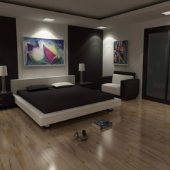 Simple Bedroom Attractive Design - Karbonix