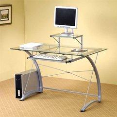 Simple Computer Desk Glass Modern - Karbonix