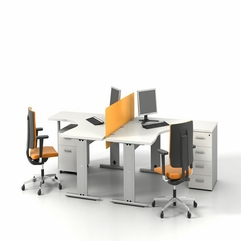 Simple Shared Office Furniture Modern - Karbonix