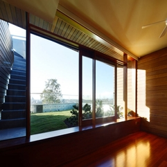 Sliding Door Combined With Wooden Ornament With Outside View Glazed - Karbonix