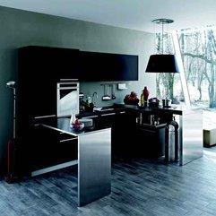 Stainless Steel Kitchen Design Wood Veneer - Karbonix
