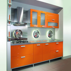 Steel Combination Orange Kitchen - Karbonix