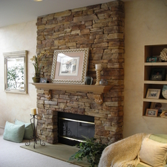Stone Fireplace Wall Gorgeous Stack - Karbonix