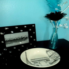 Style With Tiffany Blue Wall Paint With Black Table Beautiful Home - Karbonix