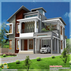 Superb Home Design Contemporary Modern Style Kerala House - Karbonix