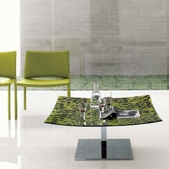Table With Green Accent Viviana Coffee - Karbonix