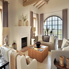 Best Inspirations : Table With White Grey Sofas Also Beautiful Fireplace Nice Rattan - Karbonix