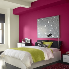 Teen Bedroom Color Combination With Bright Pink White Color - Karbonix