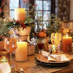 Thanksgiving Table Contemporary Decorating - Karbonix