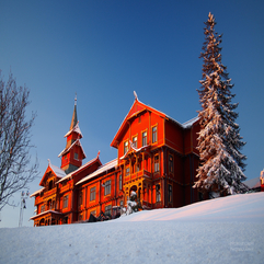 The Red Hotel In Winter Flickr Photo Sharing - Karbonix