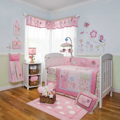 Theme Ideas With Flower And Butterfly Pattern Girl Nursery - Karbonix