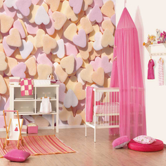 Theme Ideas With Love Pattern Girl Nursery - Karbonix
