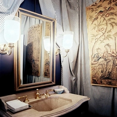 Traditional Painting In Natural Bathroom Idea With Unique Vanity - Karbonix