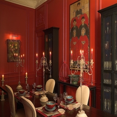 Traditional Red Dining Room Ideas 895 Interior Design - Karbonix