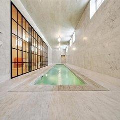 Tribeca Indoor Pool With Marble Marble House - Karbonix